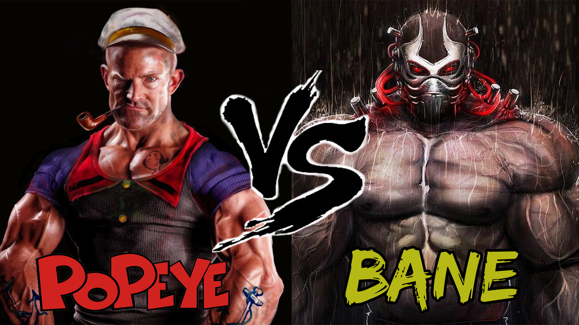 Popeye VS Bane Titles Effects 2